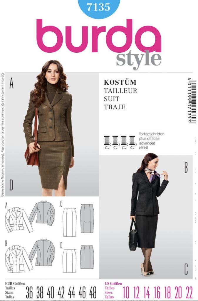 pattern envelope for Burda Style 7135 a basic jacket