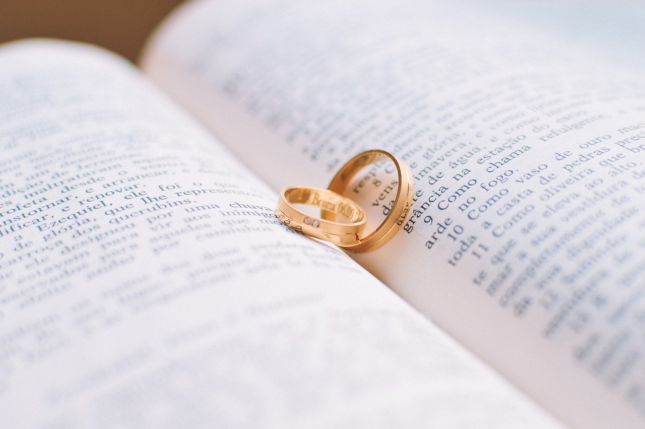 couple, love, rings