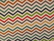 Chevron fabric in rainbow colours